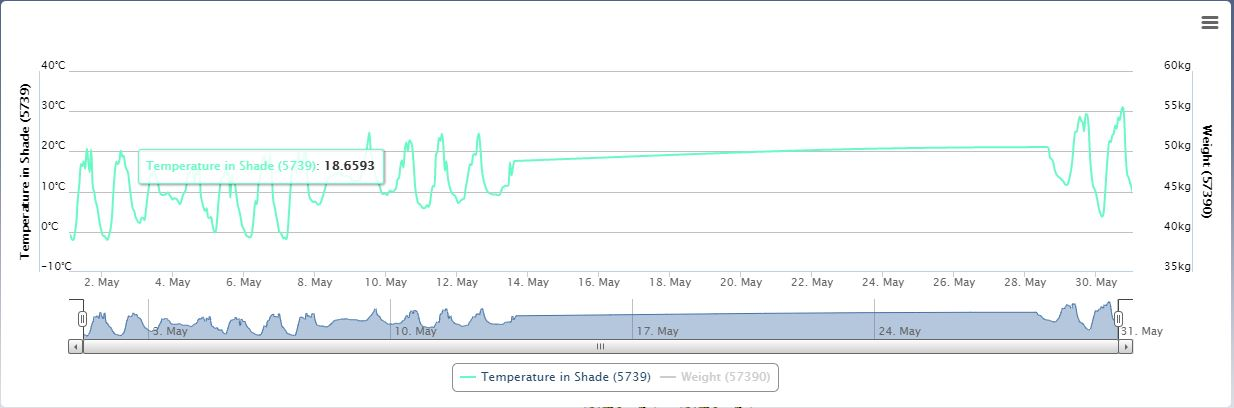 Apiary Temperature (May 21)